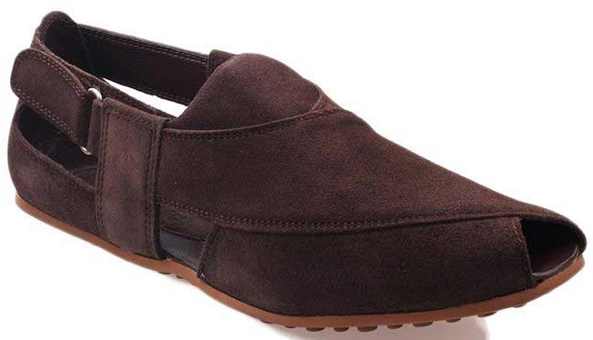 Dark brown Peshawari chappal designs 2017 for men