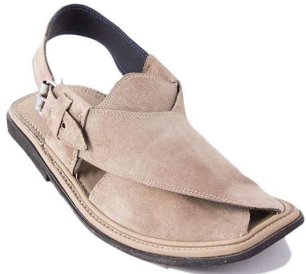 Beige Peshawari chappal designs 2017 for men