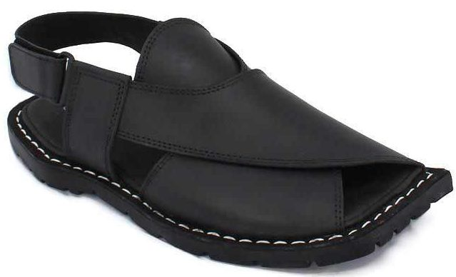 Black Peshawari chappal designs 2017 for men