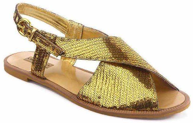 Shimmery golden kheri from the collection of latest Peshawari chappal designs 2017 for men