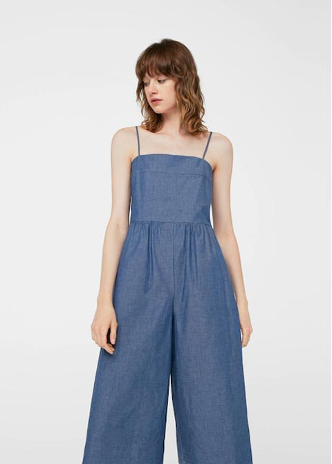 Light blue denim overalls and jeans jumpsuits for girls in Pakistan 2017 by Mango
