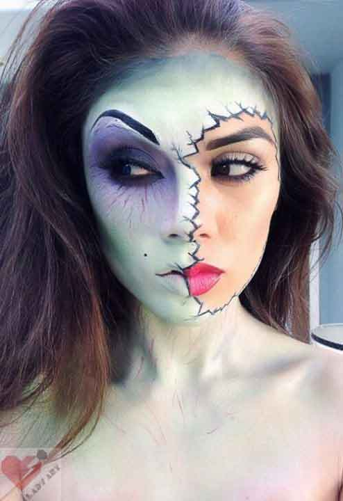 Best pretty easy Halloween makeup looks and ideas for girls in 2017