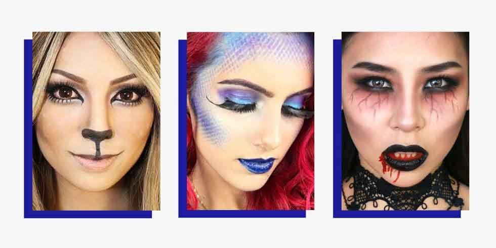 Simple and easy Halloween makeup looks and ideas for girls in 2017