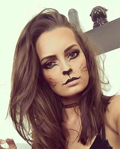 Cute and easy Halloween makeup looks and ideas for girls in 2017