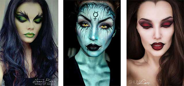 New spooky and easy Halloween makeup looks and ideas for girls in 2017