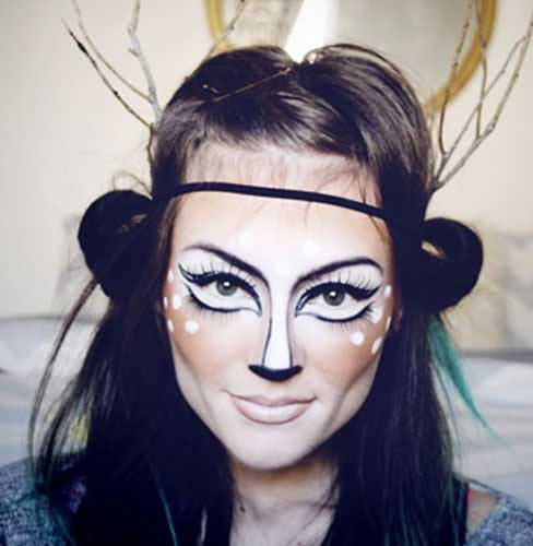 Latest best and easy Halloween makeup looks and ideas for girls in 2017