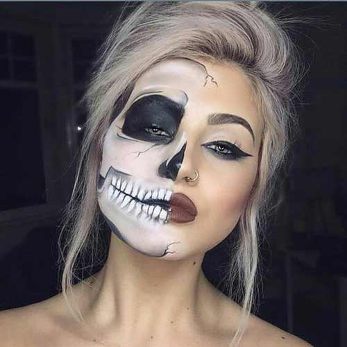 Spooky easy Halloween makeup looks and ideas for girls in 2017