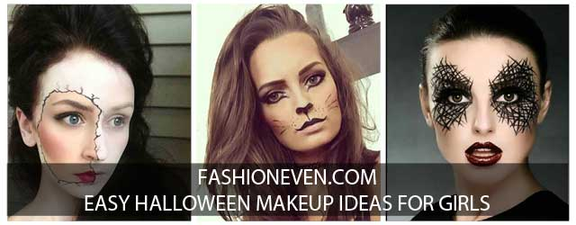 Latest simple and easy Halloween makeup looks and ideas for girls in 2017