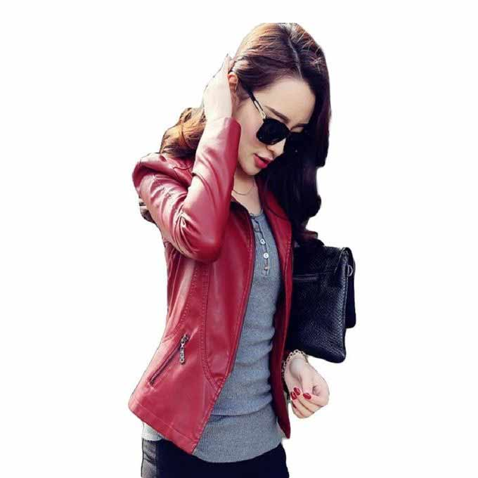 Ladies red leather winter jackets 2017 with price in Pakistan