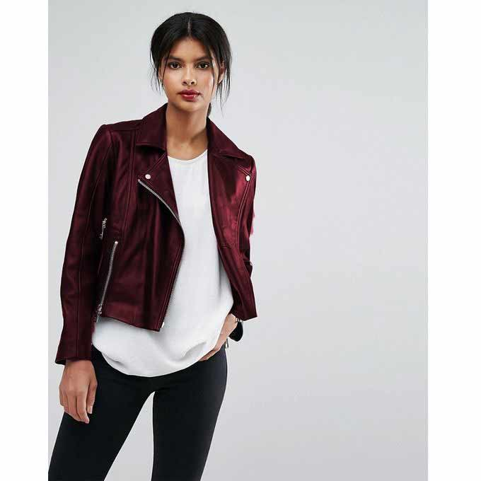 Ladies maroon leather winter jackets 2017 with price in Pakistan