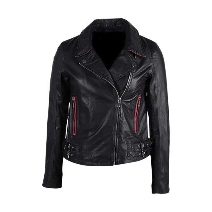 Ladies black leather winter jackets 2017 with price in Pakistan