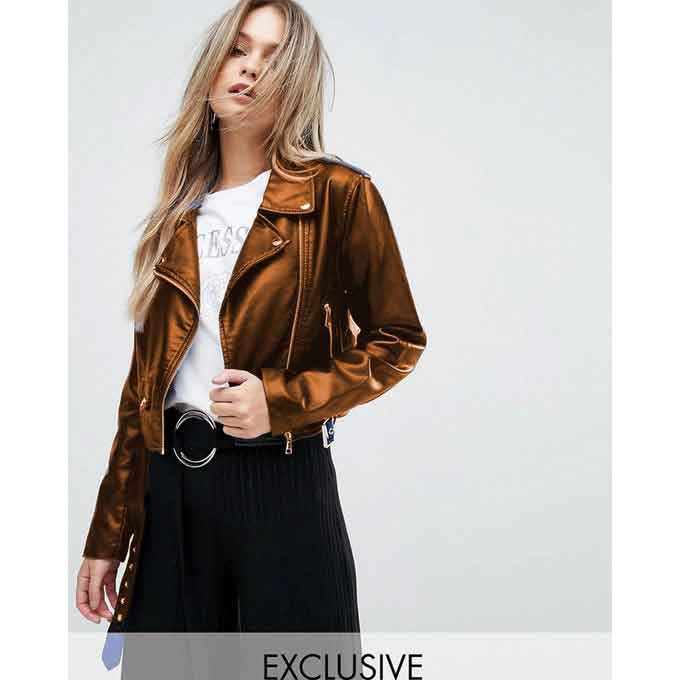 Ladies short mustard leather winter jackets with price in Pakistan