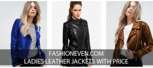 Ladies blue black and brown leather winter jackets with price in Pakistan