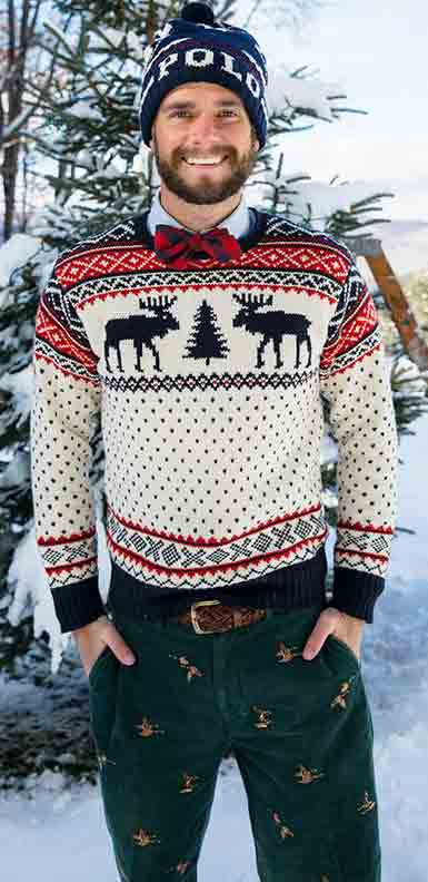 Best multicolored shirt with black pants from the new collection of latest Christmas party dresses for men in 2017