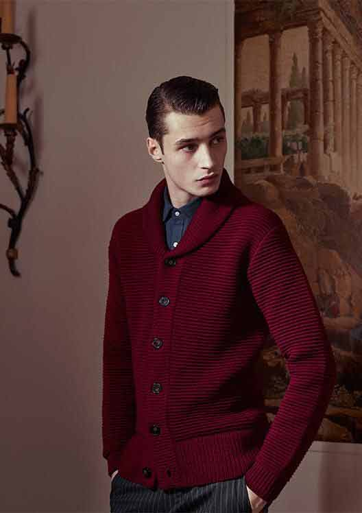Maroon shirt from the new collection of latest Christmas party dresses for men in 2017