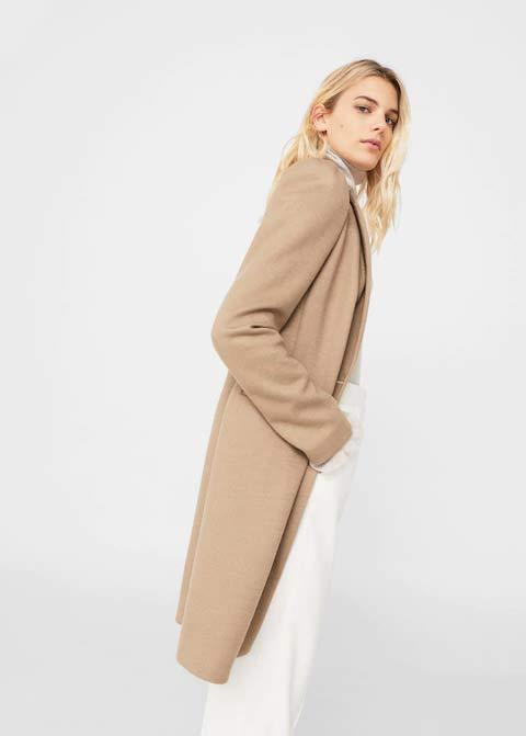 Latest light brown winter long coats 2017 for girls in Pakistan