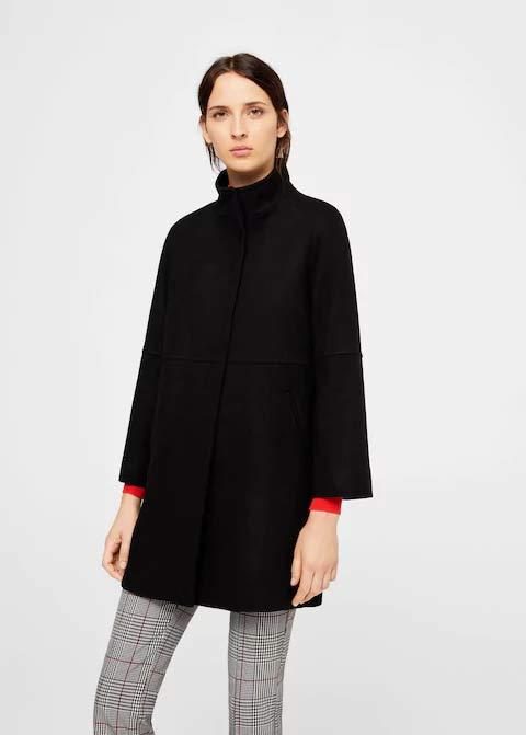 New black winter long coats 2017 for girls in Pakistan