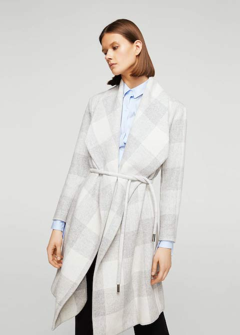 Light grey winter long coats 2017 for girls in Pakistan