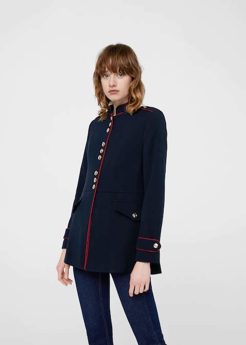 Best navy blue winter long coats 2017 for girls in Pakistan
