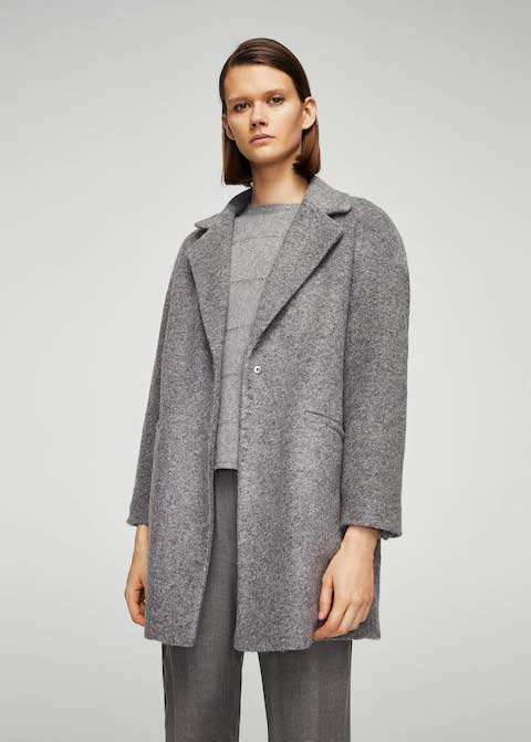 Best grey winter long coats 2017 for girls in Pakistan