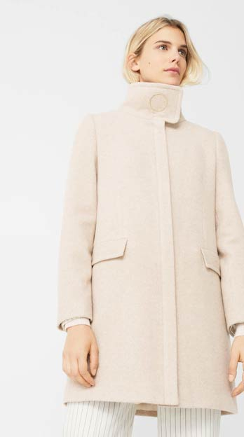 Baby pink winter long coats 2017 for girls in Pakistan