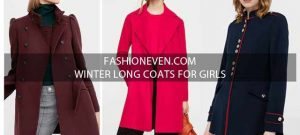New style maroon red and navy blue winter long coats 2017 for girls in Pakistan