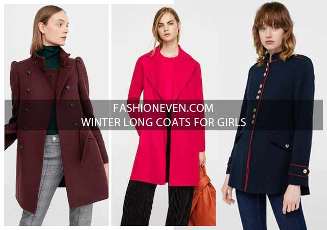 Latest Winter Long Coats For Girls In Pakistan For 2020