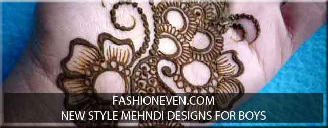 New styles mehndi designs 2017 for boys