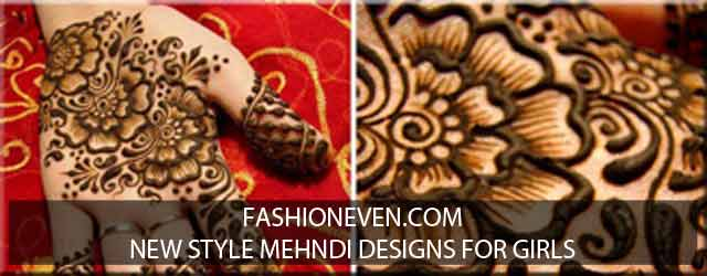 New styles mehndi designs 2017 for girls
