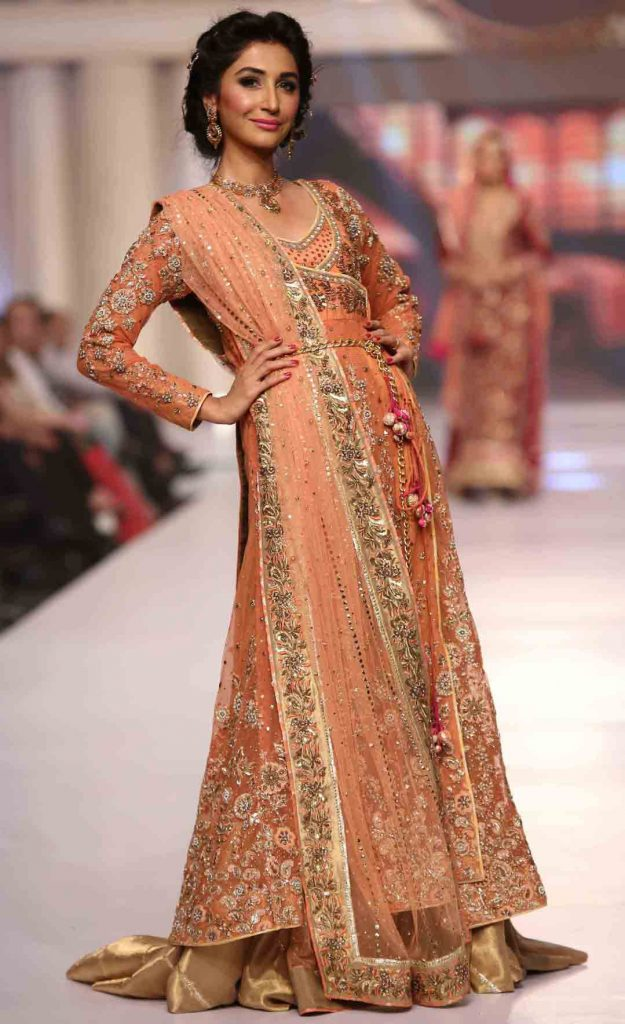 Pakistani Bridal Long Tail Maxi Gown Dresses 40 Fashioneven