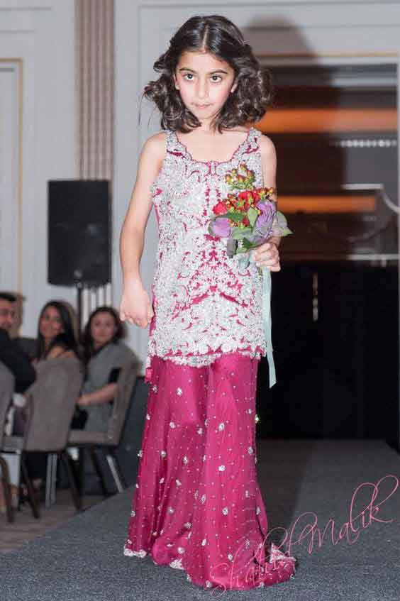 White and purple baby girls sharara dress designs 2018 for wedding party