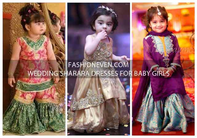 Baby Girls Sharara Dress Designs 2021-2022 For Wedding
