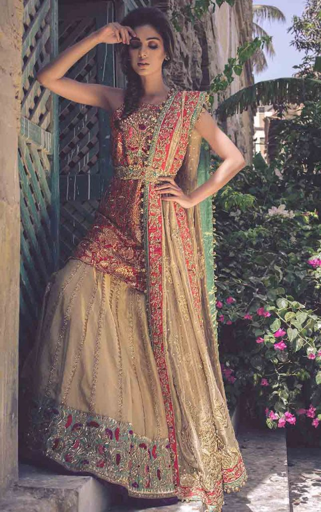 Short Frock Peplum With Lehnga For Pakistani Bridals 2 Fashioneven