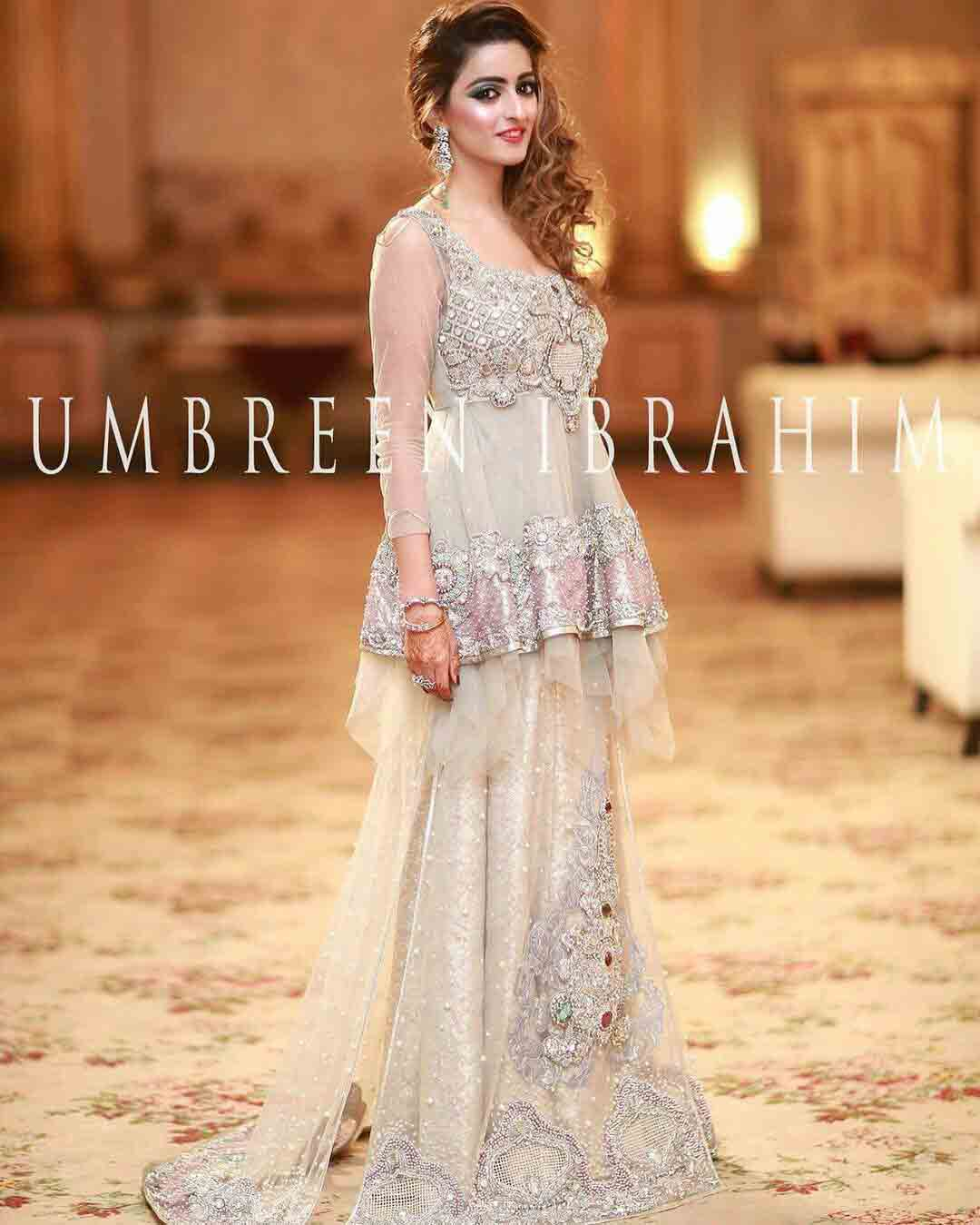Short Frock Peplum With Lehnga For Pakistani Bridals 6