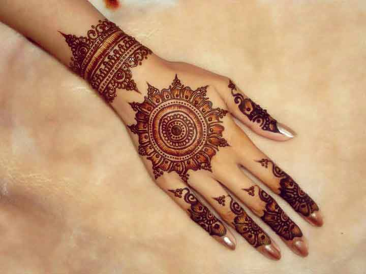 Best and simple gol tikka mehndi designs 2017 for back hands