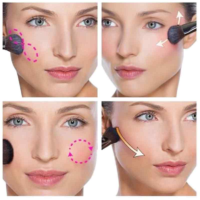 Apply blush on your cheekbones simple 5 steps for easy and natural makeup for girls in Pakistan