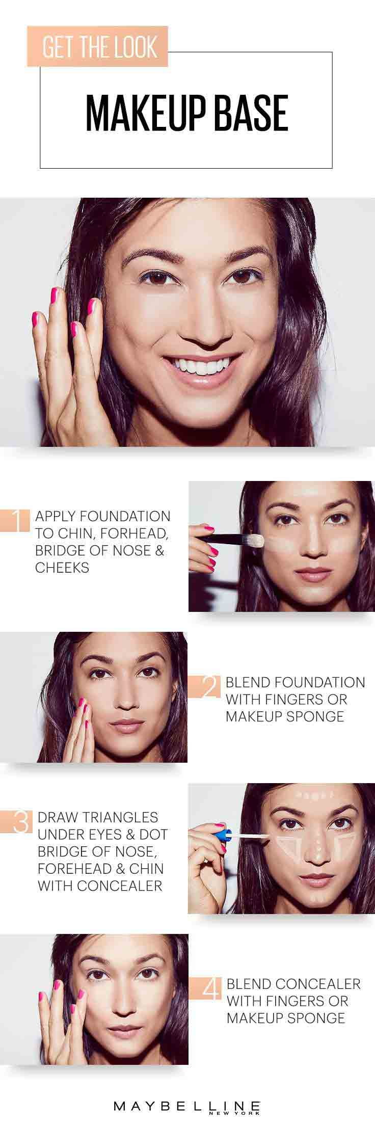 Apply foundation simple 5 steps for easy and natural makeup for girls in Pakistan