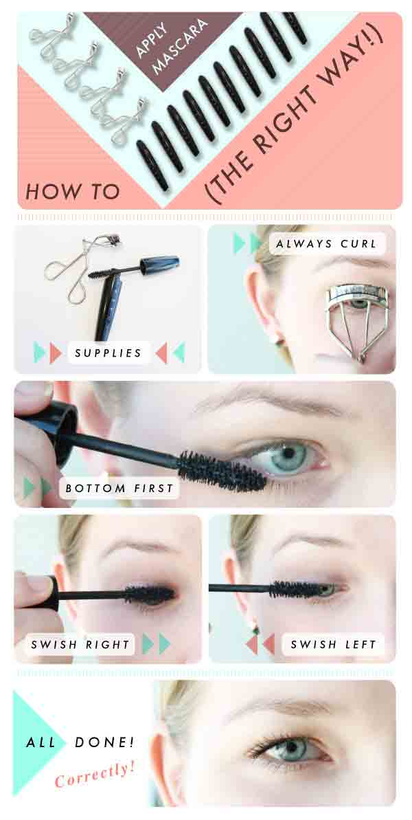 Apply mascara simple 5 steps for easy and natural makeup for girls in Pakistan