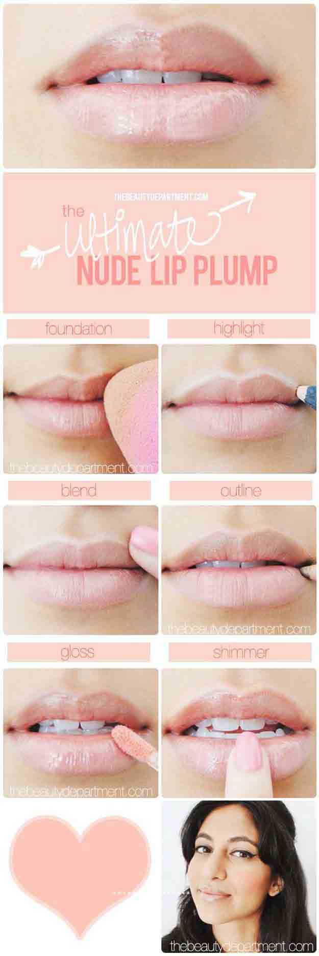 Baby pink or nude lipstick simple 5 steps for easy and natural makeup for girls in Pakistan