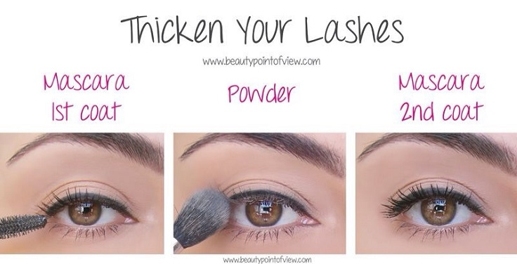 Thicken your lashes secrets and hacks from best makeup tips and tricks in Pakistan