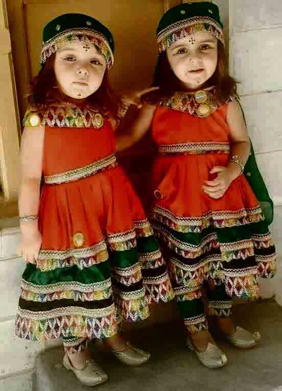 Green and orange pathani dresses for baby girls and baby boys 2018