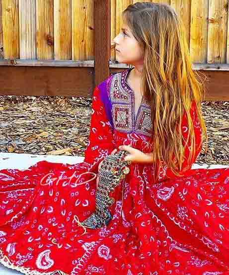 Red and blue pathani dresses for baby girls and baby boys 2018