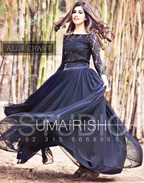 528f3e79e Black party wear long frock designs for girls in Pakistan