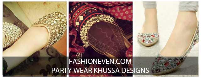 New styles of fancy khussa shoes designs for girls