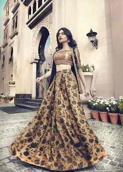 Pakistani floral long skirts for girls