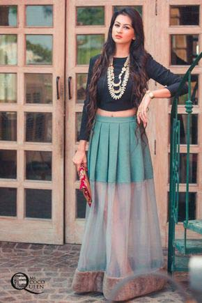 Pakistani long skirts for girls
