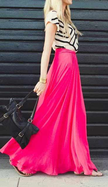 Pakistani plain long skirts for girls