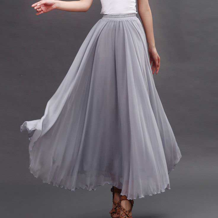 Pakistani long skirts with extra flare style for girls