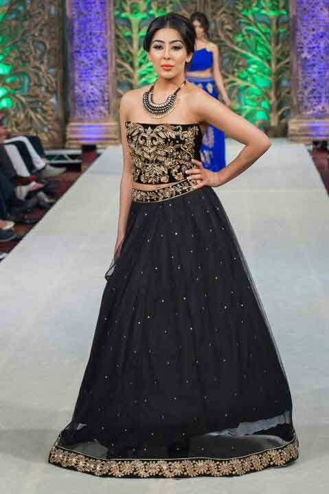 Pakistani black net long skirts for girls
