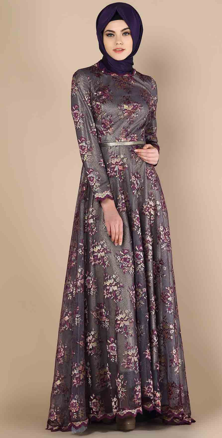 Formal Party Wear Abaya With Hijab Styles 2018 Fashioneven